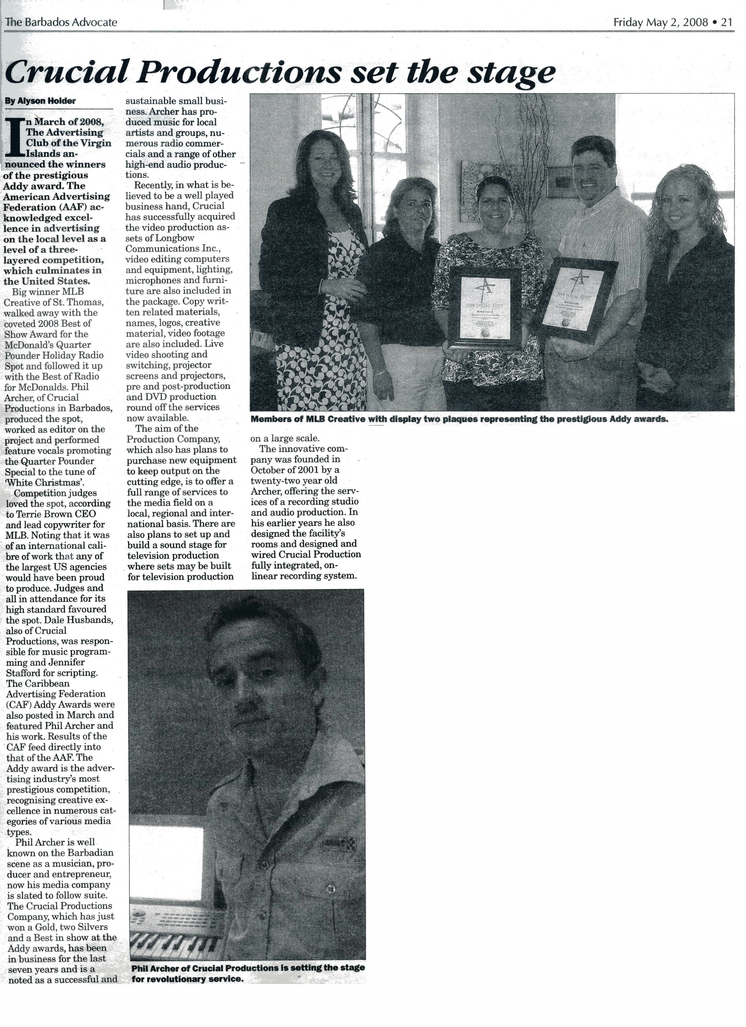 Barbados Advocate Article Addy Awards.jpg