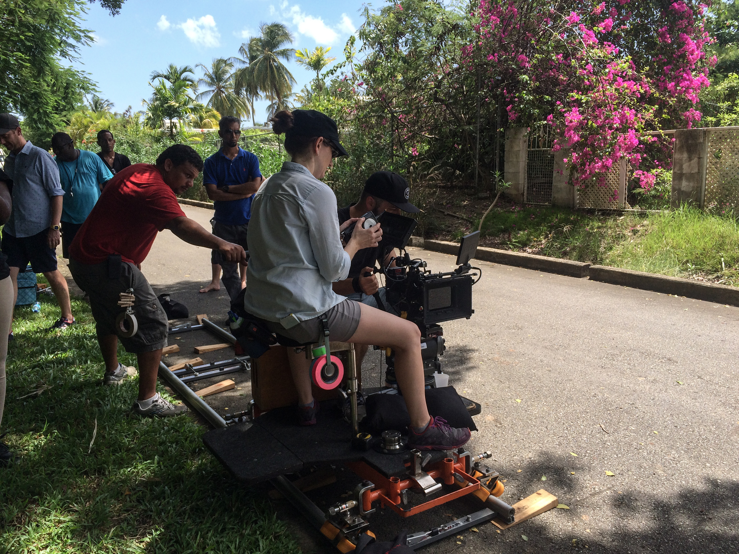Dolly setup with remote follow focus on the Red Epic Dragon with Zeiss Superspeed Primes- This commercial was shot in 6K