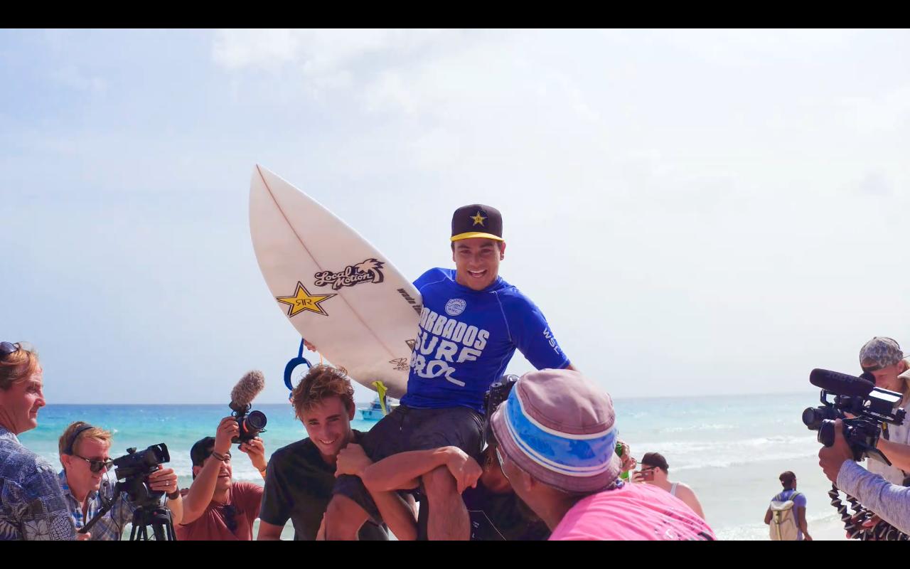 2017 Barbados Surf Pro Mens Champion, Keanu Asing (HAW)    Image: NPI Productions Inc.