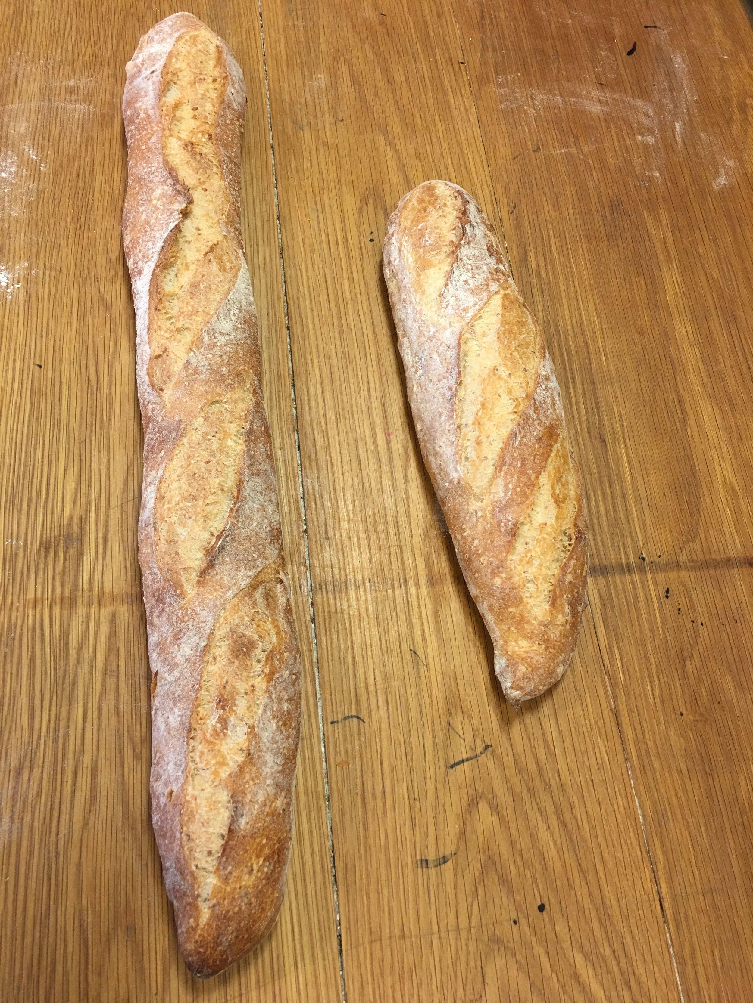 Full baguette vs. Demi baguette