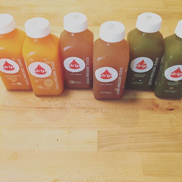 Excited for the arrival of Drip Cold Pressed Juice! I must say, one of the best tasting cold pressed juices out there. @drip_coldpressedjuice @d4n.miller #bestjuiceever #healthyjuicing