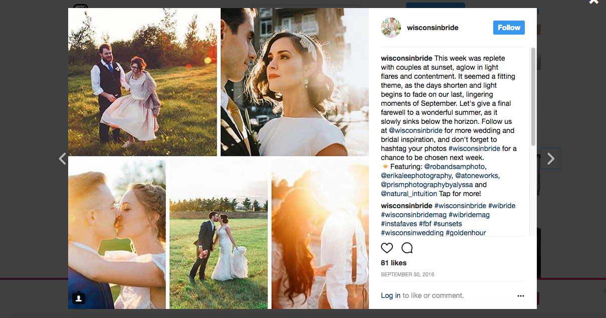 N Martin - Wisconsin Bride - Instagram Roundup - Sunset.png