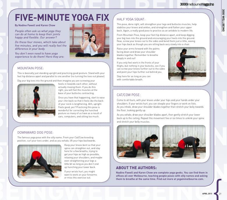five minute yoga fix