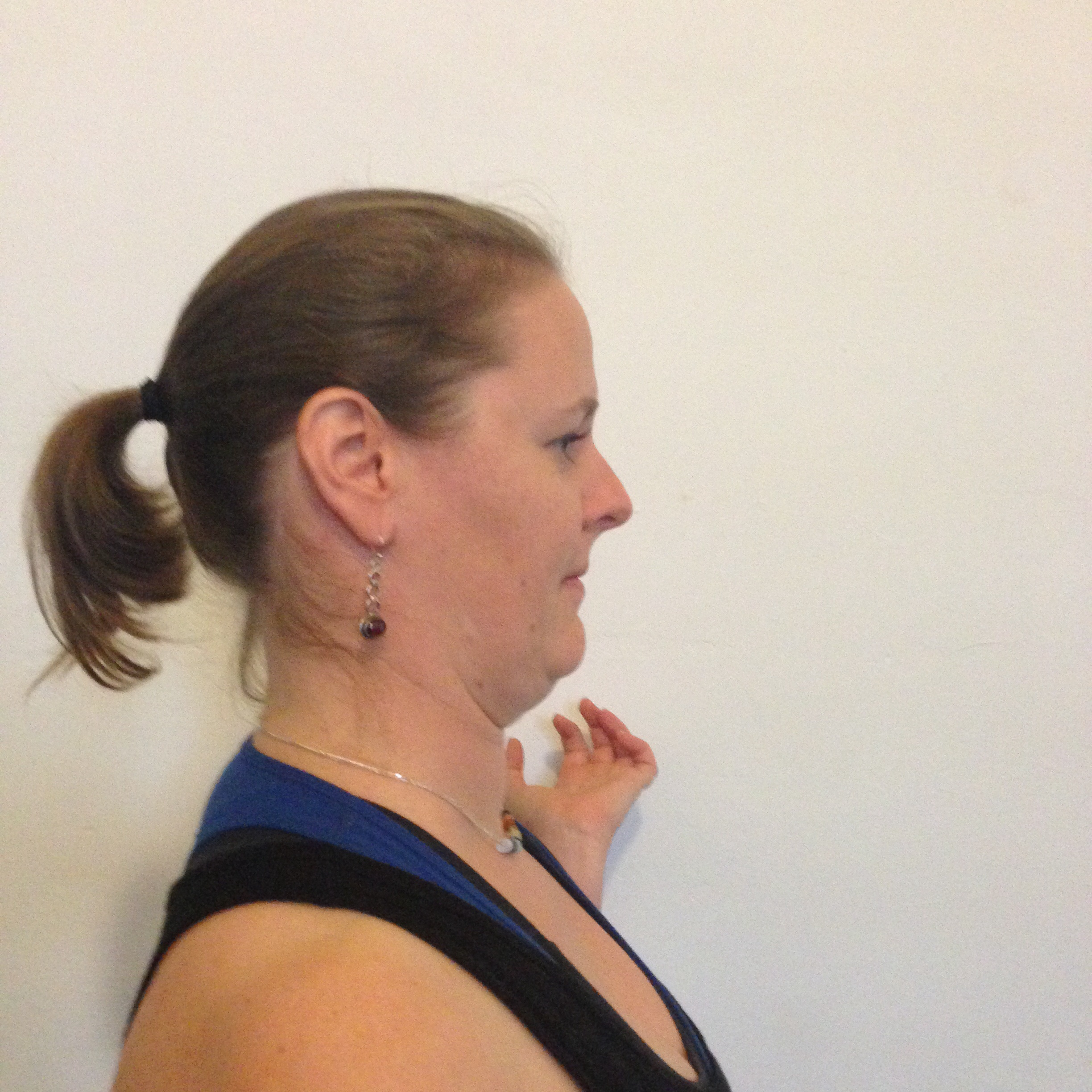 """Suzy's comments on this pose: """"All of the chins..."""" Think of that as you do it—it helps!"""