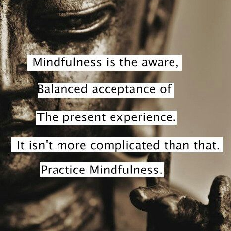 Mindfulness helps mental health