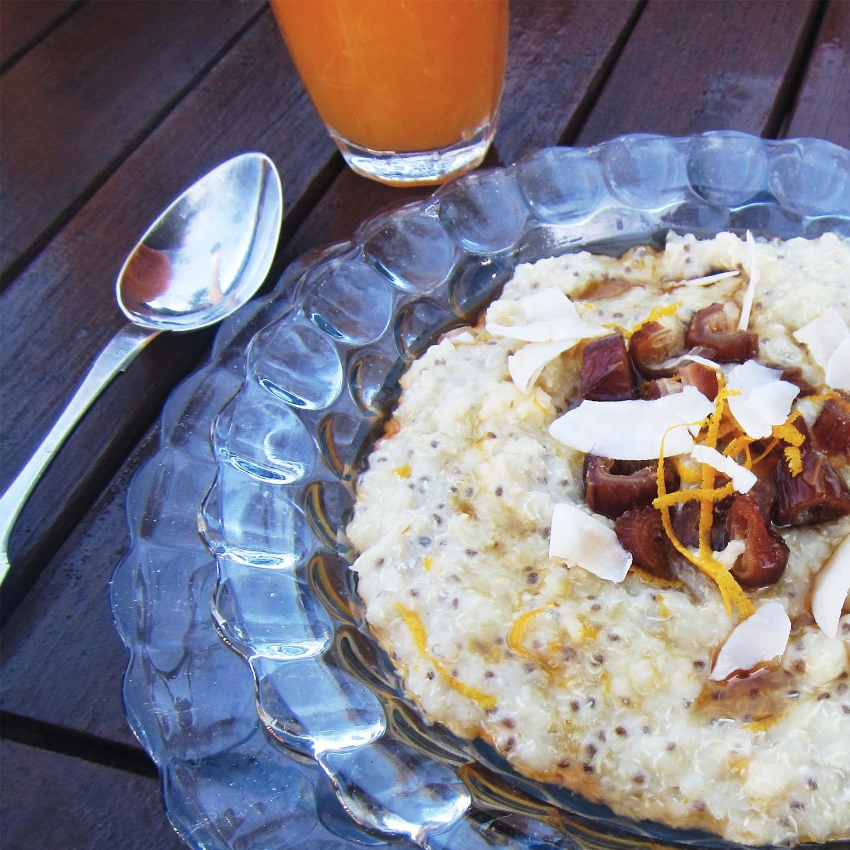 orange and date quinoa porridge