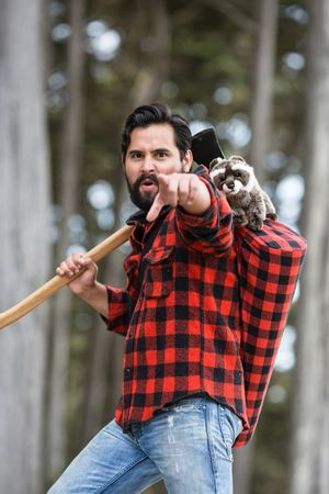 Dan Abramson and the Lumberjack yoga bag - brogamats
