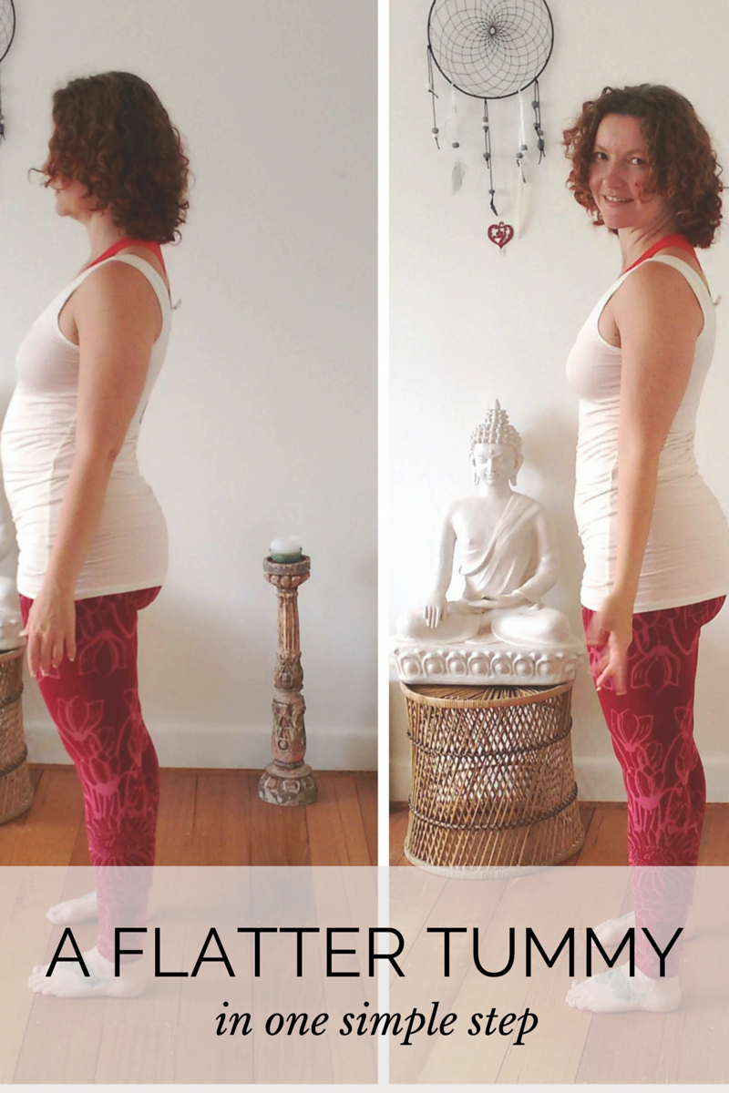 one simple step to a flatter tummy - it's all about good alignment!