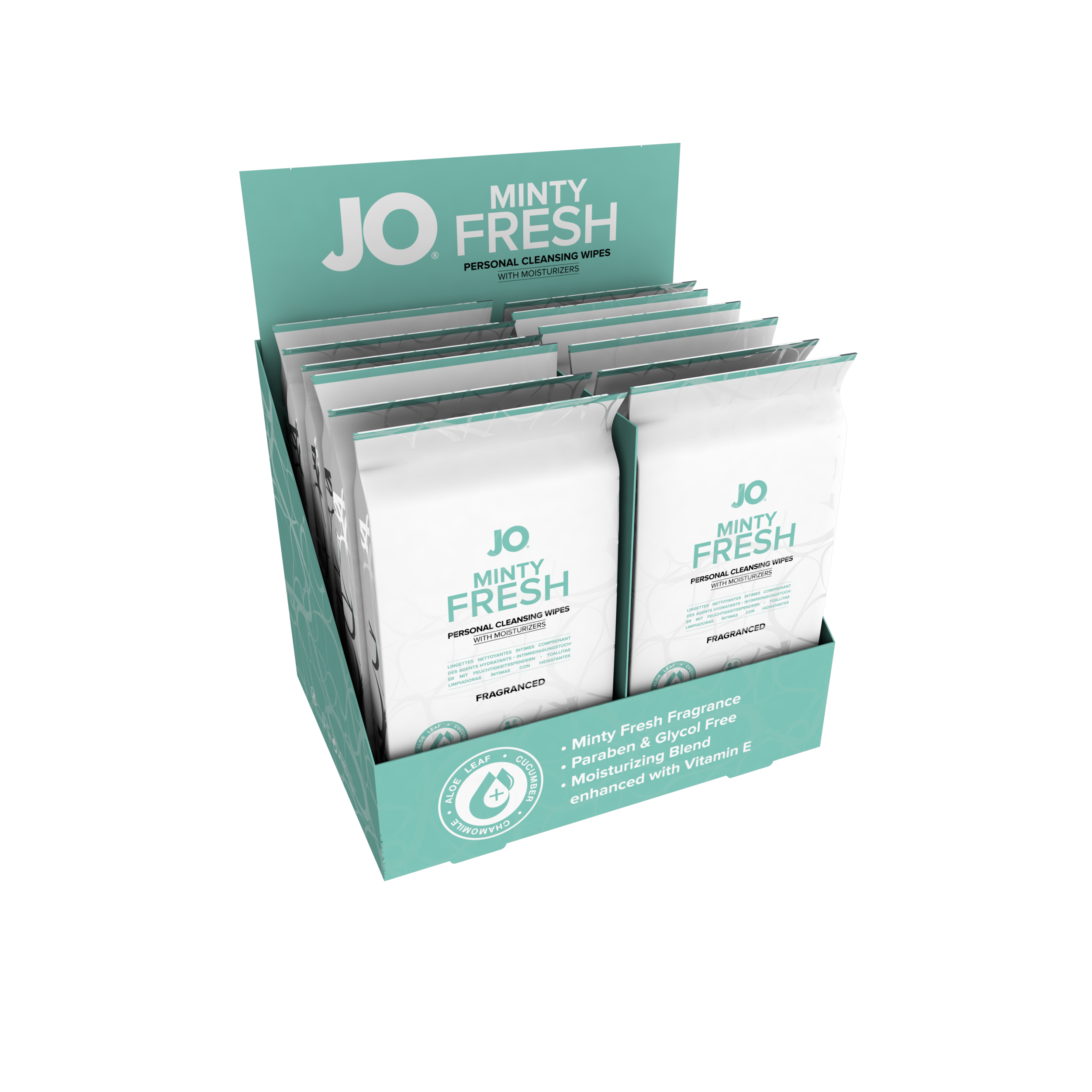 10223 - JO PERSONAL CLEANSING WIPES - MINTY FRESH - 12 pack (MOQ 12 units - Includes Counter Display) .png