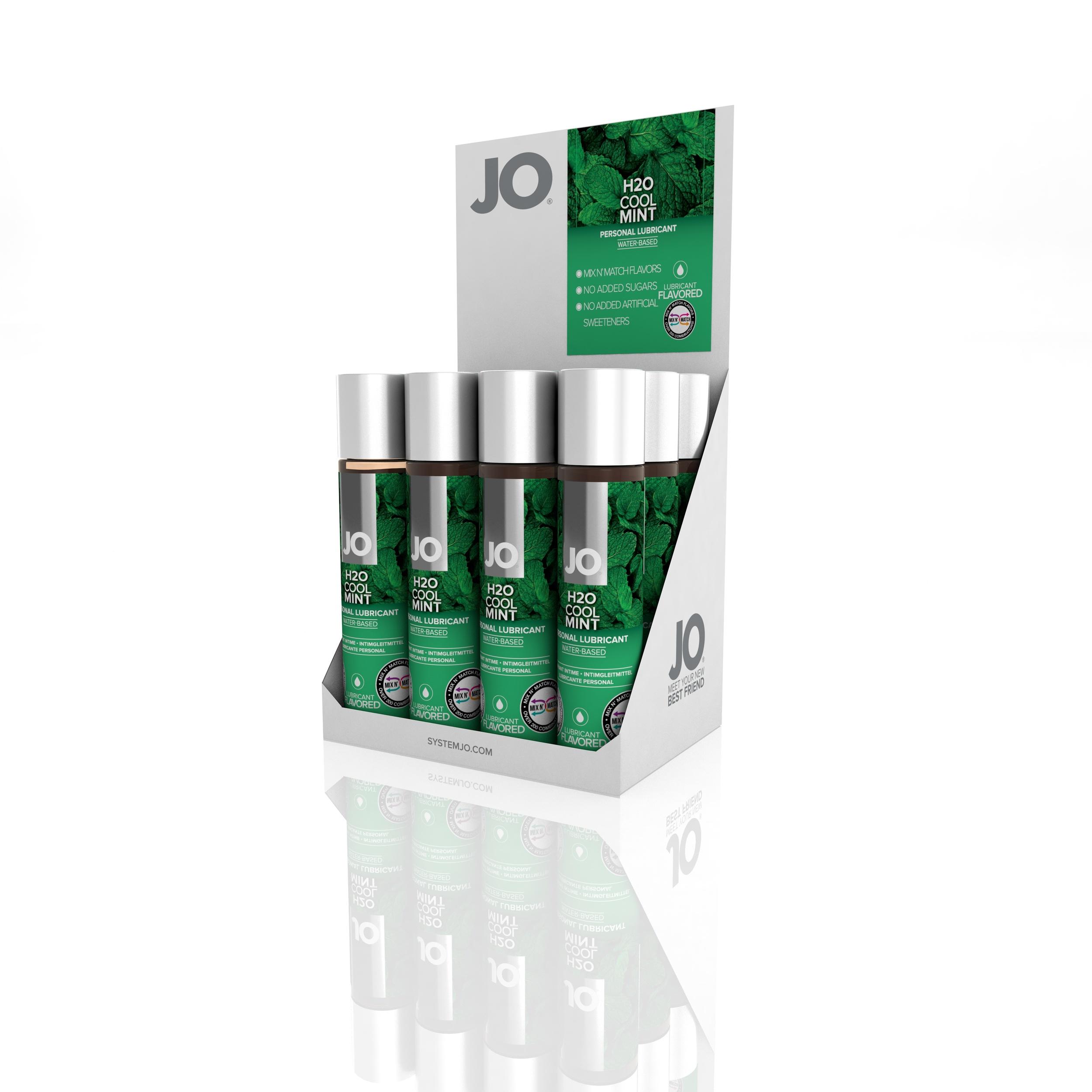 10383 - JO H2O FLAVORED LUBRICANT - COOL MINT - 1fl.oz 30mL (MOQ 12 units - Includes Counter Display).jpg