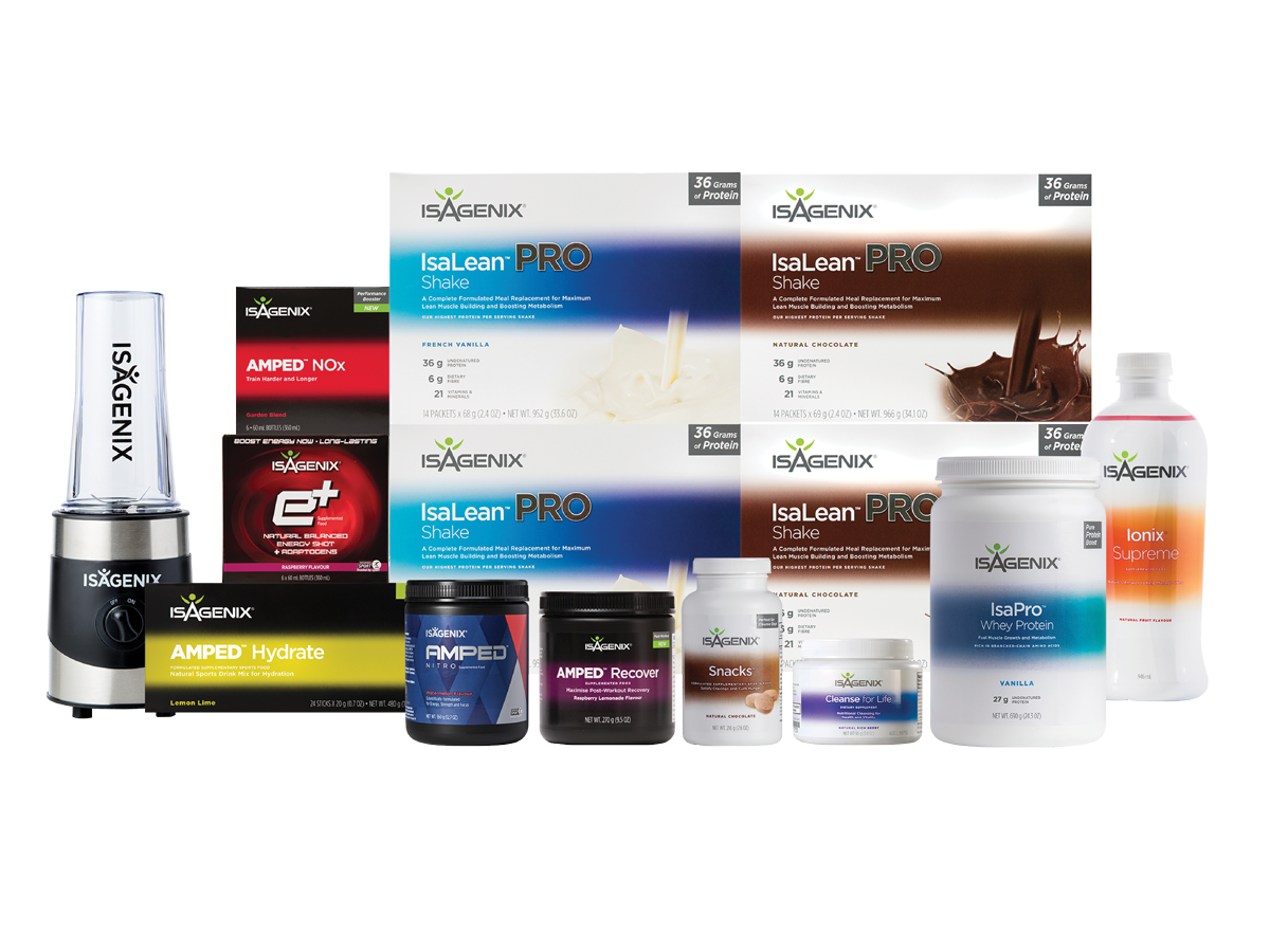 Performance Premium Pak - 1st Best - Pack to cover you for building muscle, pre, during and post exercise support to enhance muscle repair, recovery and energy. Daily adaptogen Ionix mix, intermittent fasting, straight protein, energy shots, blender.Price:$855.65Plus 1:1 coaching for the month Including: Private FB support group, my personal number to contact me whenever needed, meal ideas, daily support and checking in, exercise tips, 25% off products for a year. Valued @ $299Total = $1,154.65Special Offer Buy Now and receive products AND coaching for:$606.10