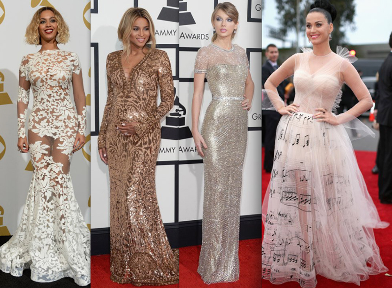 Pictured above: Beyonce , Ciara , Taylor Swift , Katey Perry at the 2014 Grammy Awards