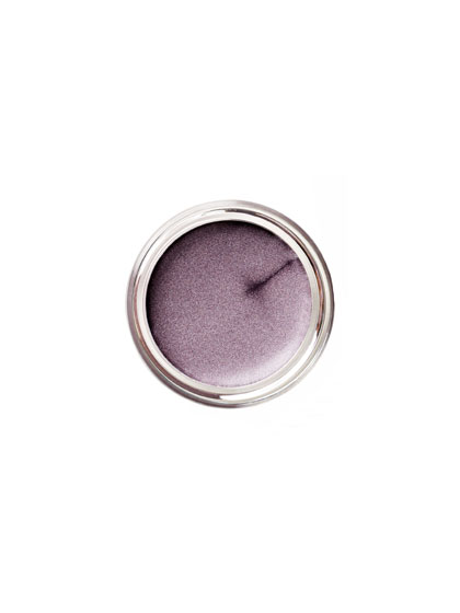Lilac loses its preciousness and gains major attitude with dusty gray undertones.  Skip color below the lash line and load up on mascara for a more wide-awake take.