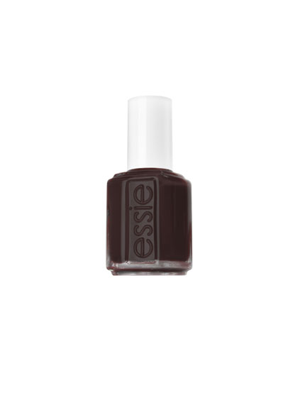 Want dark, delicious nails without a hint of goth or emo angst? Two glossy layers of 70-percent-cacao-colored brown polish does the trick. We love Essie Little Brown Dress, an exact match for dark-roast coffee.