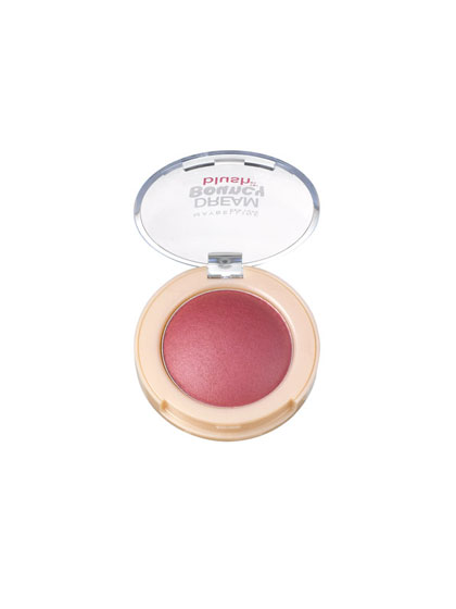 """Berry-colored blush imparts a deeper flush than delicate pink, which """"gives the face freshness,"""" says makeup artist Charlotte Willer, who used it on models at  DKNY. You can use a cream or a powder; the key is to dot it on just the center of the cheeks, blending out to make the apples glow."""