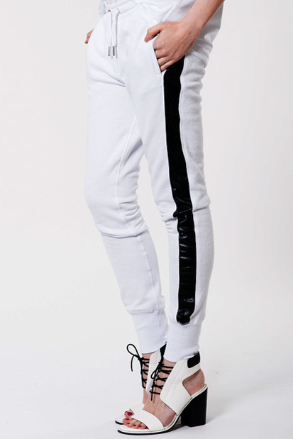 Zoe Karssen Tuxedo Stripe Sweat Pants $269 from Superette.