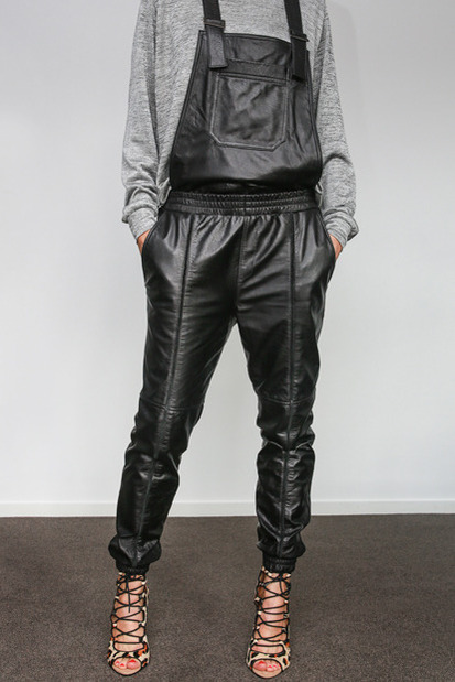 Hideseekers All Or Nothing Leather Overalls $998.