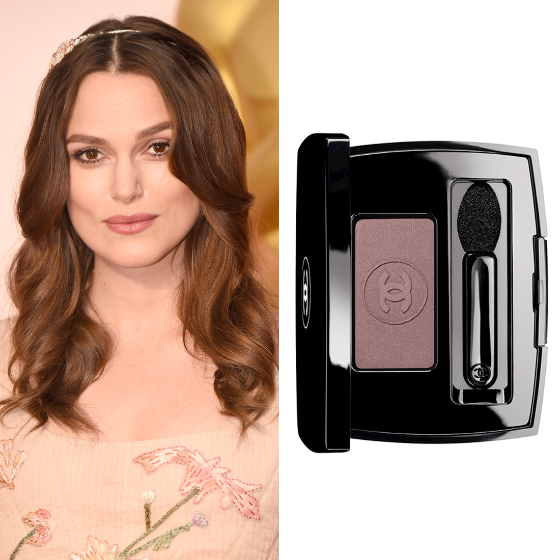 Keira Knightley at the Oscars     Makeup artist Kate Lee accentuated Keira's natural pregnancy glow with a mauve eye contour. She used  Chanel Soft Touch Eye Shadow in Hasard  ($44) to give her eye colour extra depth on the Oscars red carpet.  Image Source:  Getty    Read More     Oscars Beauty  Celebrity Beauty  Award Season  Beauty Shopping  Oscars  Golden Globe Awards  Chanel  Keira Knightley  Red Carpet