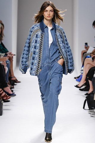 Eighties Denim  A fan of the decade that taste forgot, Rousteing picks only the very best Eighties details for his collections: step up this  Flashdance meets George Michael bomber beauty. We would. We really would.