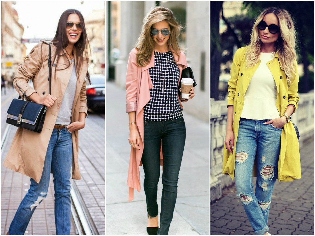 Trench coats warm us in fall and spring when it's cold. If you still don't have a stylish trench coat in your closet, you definitely need to buy one. This clothing item will make you feel comfortable and gorgeous.