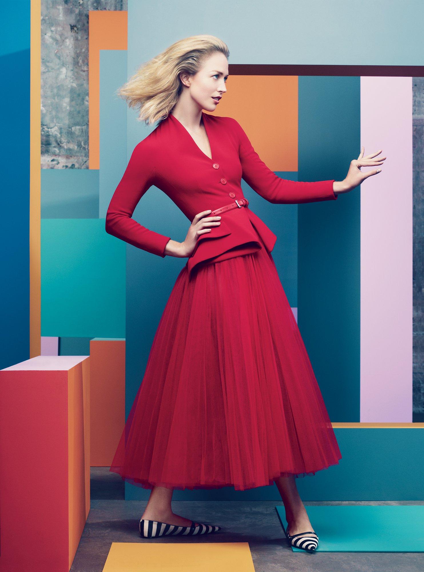 Raquel Zimmermann in Christian Dior