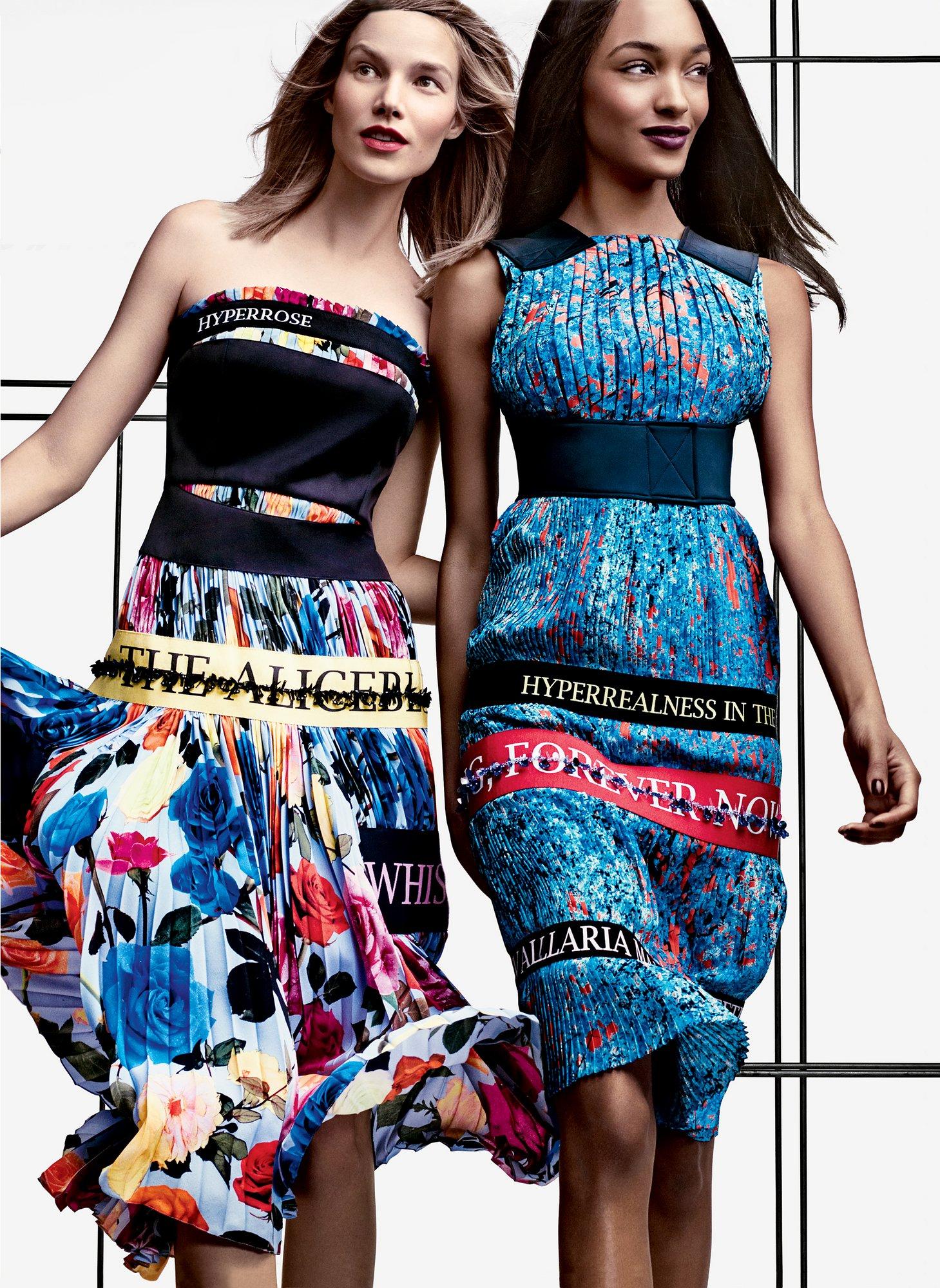 Suvi Koponen and Jourdan Dunn, both in Christian Dior