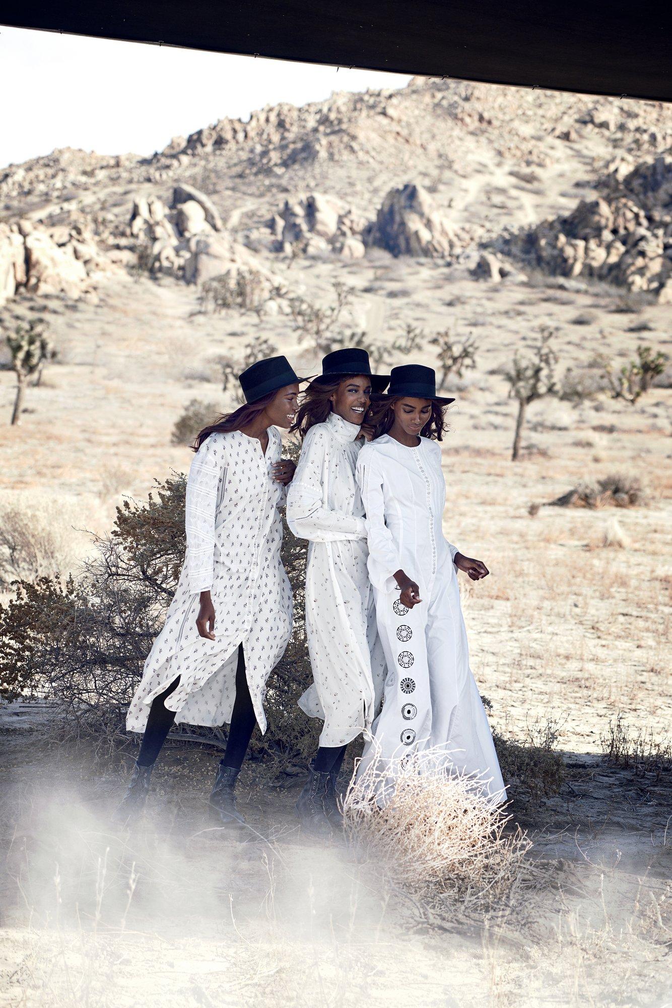 Kai Newman,Leila Nda,and Tami Williams,all in Christian Dior dresses