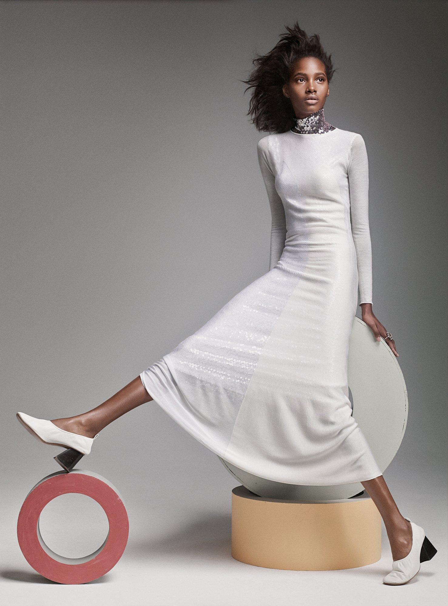 Tami Williams in a Christian Dior dress