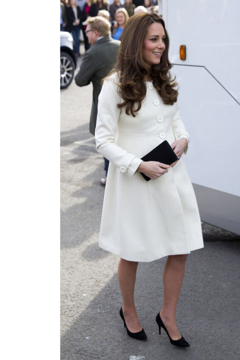 What:JoJo Maman Bébé dress  When:March 12  Where:Visiting the set of Downton Abbey   GETTY