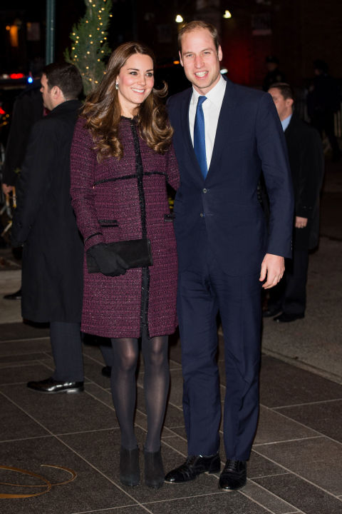 What:Seraphine coat  When:December 7  Where:Arriving at the Carlyle Hotel in New York with Prince William.  GETTY IMAGES