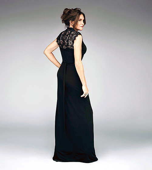 The Picture of Elegance  Jenner dazzled in a black gown with a lace back, paired with a romantic updo, while posing for a photo shoot for her upcoming series  I Am Cait .  Read more: http://www.usmagazine.com/celebrity-style/pictures/caitlyn-jenner-best-style-moments-2015157/46391#ixzz3qRHcc3F6  Follow us: @usweekly on Twitter | usweekly on Facebook