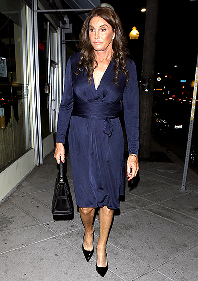 """Fit for a Princess!  On Oct. 21, 2015, while out in L.A., Jenner sported into the sapphire-hued Issa London """"Phylis"""" wrap dress. Look familiar? That's because it's the same exact style that Kate Middleton wore when she and Prince William announced their engagement in 2010.  Read more: http://www.usmagazine.com/celebrity-style/pictures/caitlyn-jenner-best-style-moments-2015157/47826#ixzz3qRJ7QLAy  Follow us: @usweekly on Twitter 