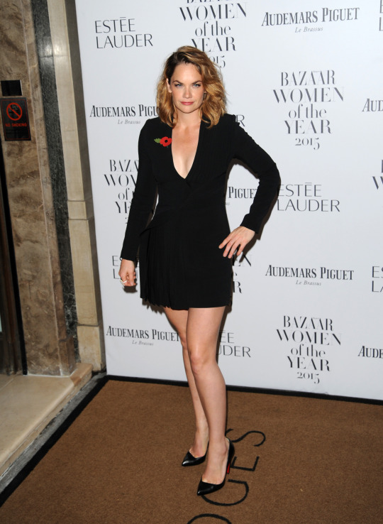 Ruth Wilson kept things simple in a LBD.   [Photo: Rex]