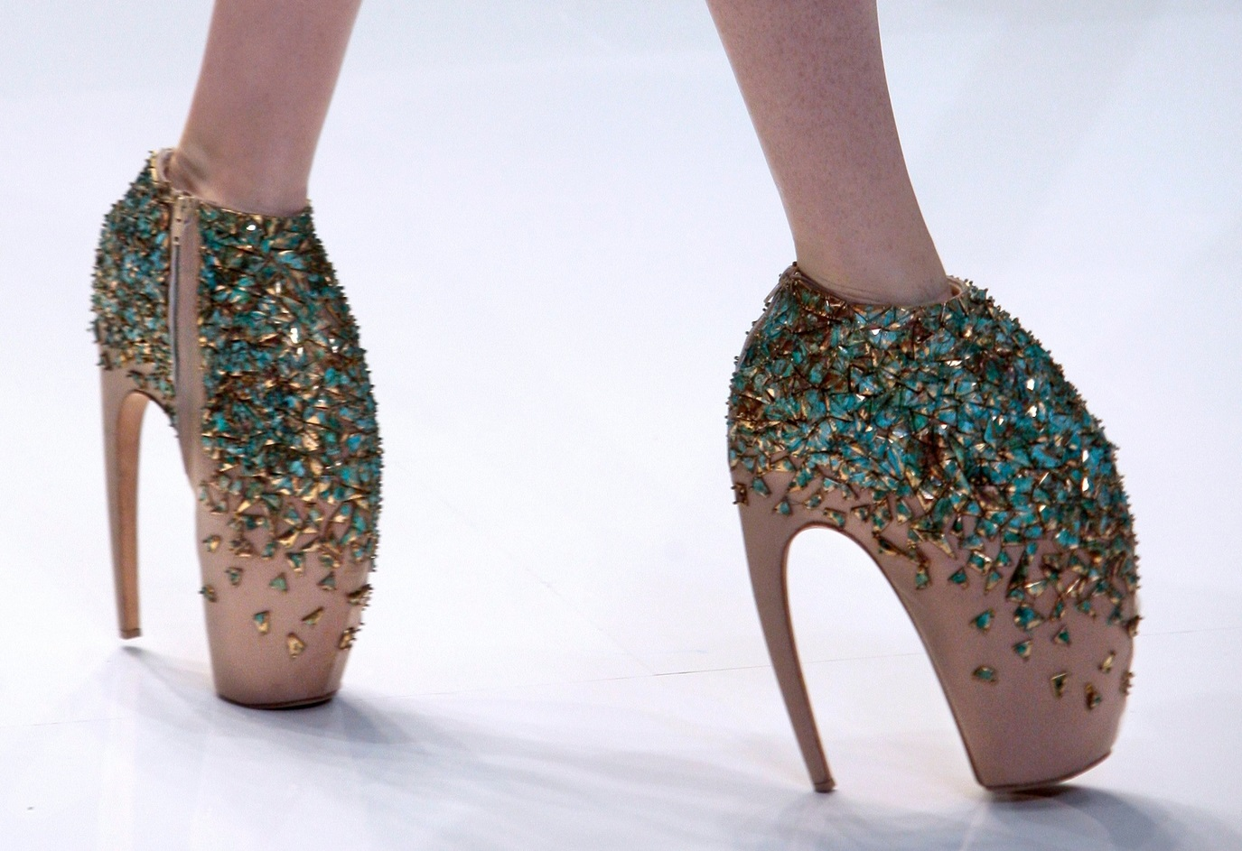 7. These Alexander McQueen's look very painful to walk in, but look amazing on. Some models in his shoes even refused to walk in them because they looked too terrifying. So goes it in fashion – pain is beauty, guys.