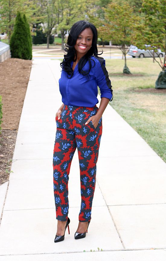Tracy Idirisu    Floral pants are a rare sight, so if you have one be sure to rock it this week.