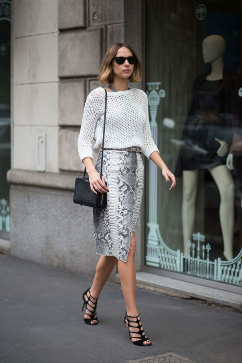 Insouciance is something we're always pursuing in the style department, but in the case of looking like you know what you're doing, tuck in any shirttails or a baggy sweater hem and cinch your waist with a chic belt for maximum impact.