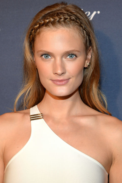 Who:Constance Jablonski  What:A Braided Band  How-To:Show us a crown braid and we tend to think of summer and festivals, but Jablonski steered the association to a cooler, edgier place with her thin, tightly-cornrowed band that balanced precise parting with touchable texture.  Editor's Pick: Estée LauderBronze Goddess, $37, esteelauder.com .  GETTY