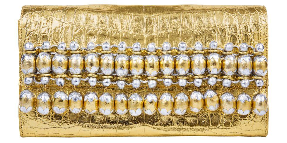 Nancy Gonzalez clutch, $3,025, Saks Fifth Avenue, 877-551-7257.  STUDIO D