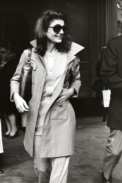 "Jackie Kennedy Onassis   When Jackie O became the First Lady of Fashion in the '60s, she influenced millions of women with her style. The simple shifts, pillbox hats, elegant scarves worn over her hair, oversized sunglasses, and peacoats inspired all generations of women to take note. Women everywhere still sport the ""Jackie O"" look today."
