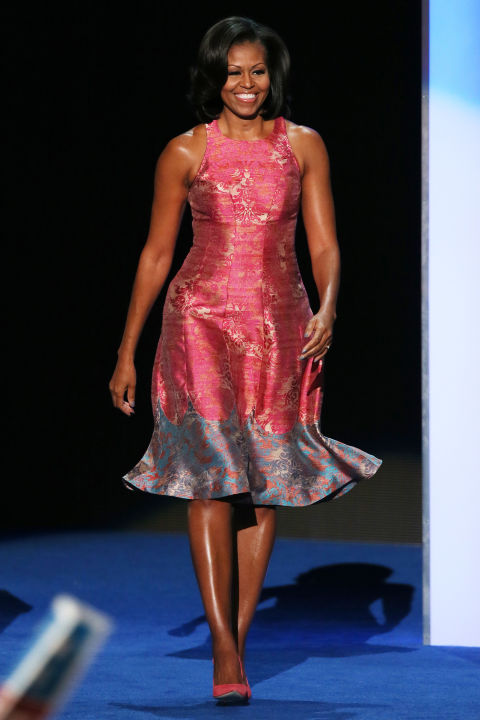Michelle Obama   As the nation's first lady, Michelle Obama has inspired generations of women to support American fashion. She's been known to favor the up-and-coming American designers who match her aesthetic, such as Jason Wu, Narciso Rodriguez, Tracy Reese, Rachel Roy, and Thakoon over the larger fashion houses like Carolina Herrera, Alexander Wang, or Ralph Lauren.  GETTY