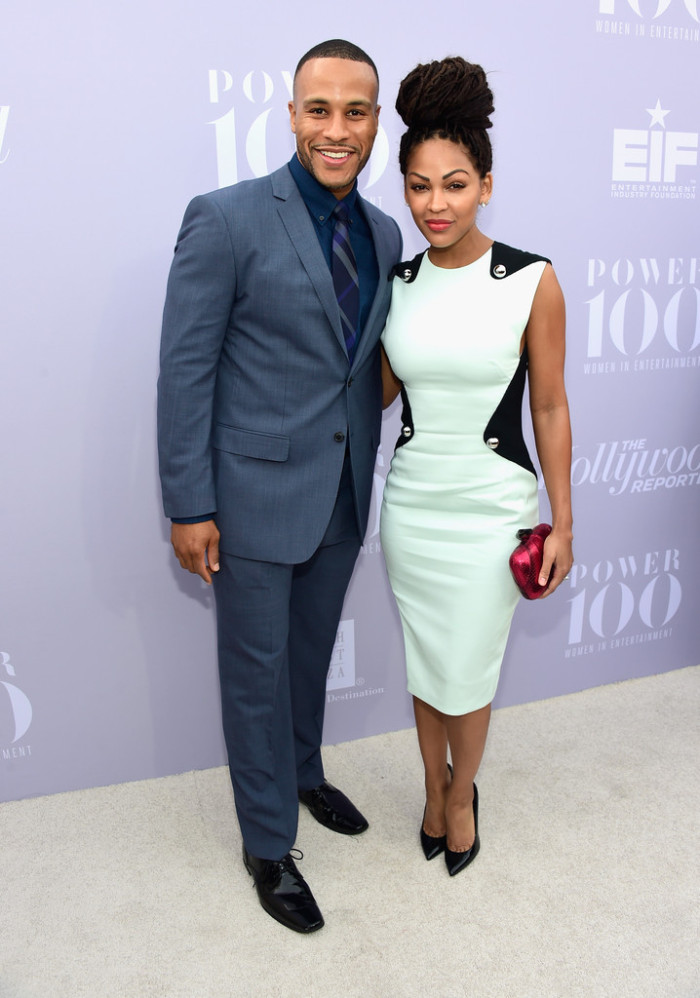 Meagan Good and husband Devon Franklin were undoubtedly the best dressed couple at the event. I loved Meagan's braided topknot and chic sheath!