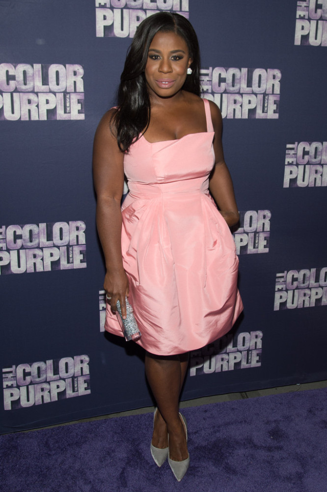 Uzo Aduba also chose pink for the occasion: following J. Hud's lead in a supremely feminine Zac Posen dress. I can't wait to see what she wears this awards season!
