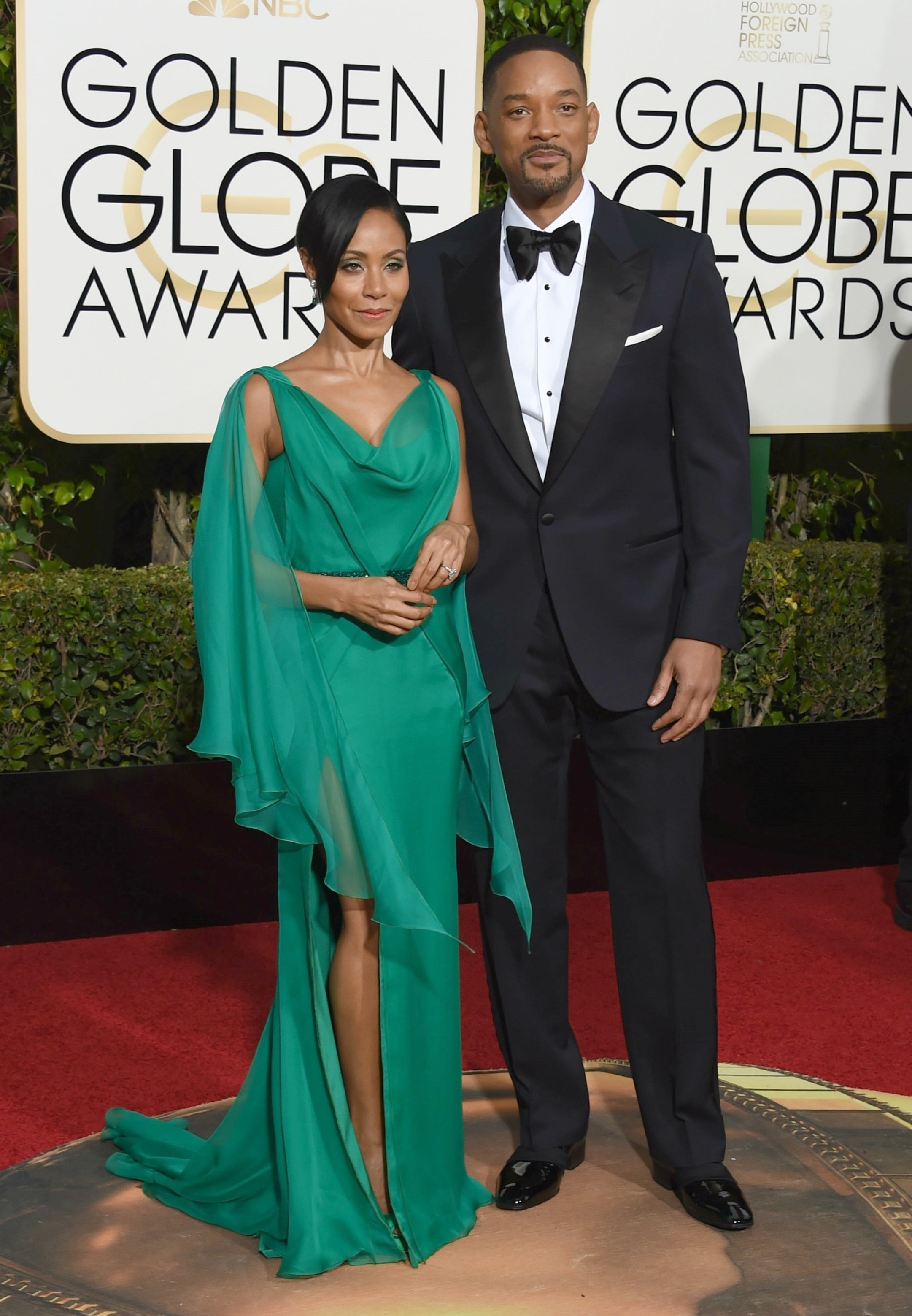 Will Smith, and Jada Pinkett-Smith in Versace