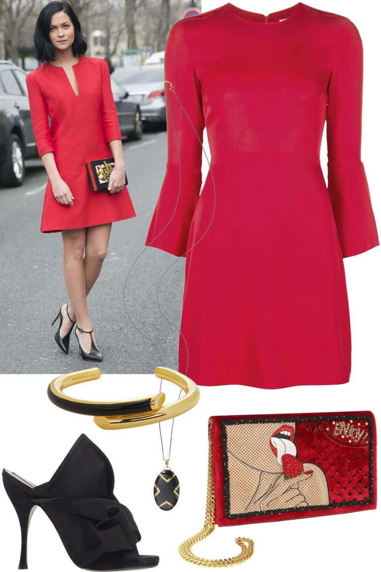 Getty Images / ShopBAZAAR    Dare to pair a little red dress with equally as bold extras like Leigh Lezark for the next big event on your calendar. This head-turning mix is sure to make you the most interesting person in any room.   Piamita  dress, $500, shopBAZAAR.com ; Maiyet  bracelet, $495, shopBAZAAR.com ; No 21 shoes, $525, shopBAZAAR.com ; Preciously Paris  bag, $2,400, shopBAZAAR.com .