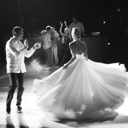 Dancing at the reception. Photo: Mary Katrantzou/Instagram