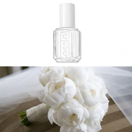 "You cannot get more sophisticated than a modern clutch of sugar white peonies, like these from Swank Productions (  swankproductions.com  ). Go graphic and clean with ""She Said Yes"" from the new Essie Wedding Collection ($8.50;   ulta.com  ). This look says white-tie, all the way."