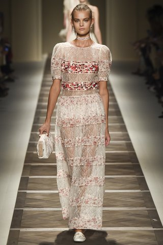 Etro   The romantic bride gets a touch of Italian flair in the form of floral embroidery.  Photo: Indigitalimages.com