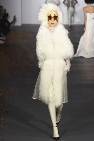 Gareth Pugh   Snow bunny bride goes Gaga.  Photo: Indigitalimages.com