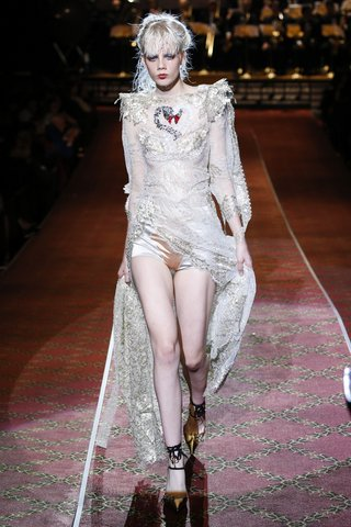 Marc Jacobs   And the bride went grunge.  Photo: Indigitalimages.com