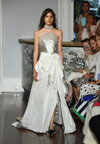 Monse   Because what girl doesn't dream of a pearl-trimmed bodice and dress?  Photo: Courtesy of Monse